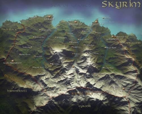 Карта The Elder Scrolls V Skyrim