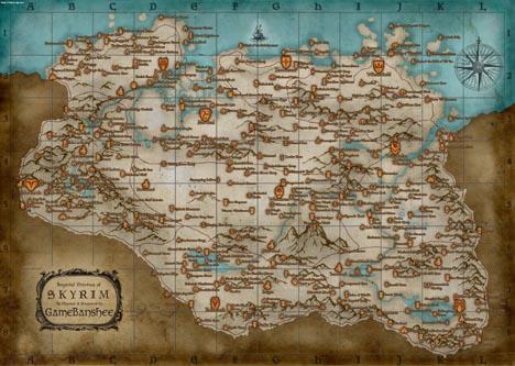 The Elder Scrolls V: Skyrim - полная карта мира