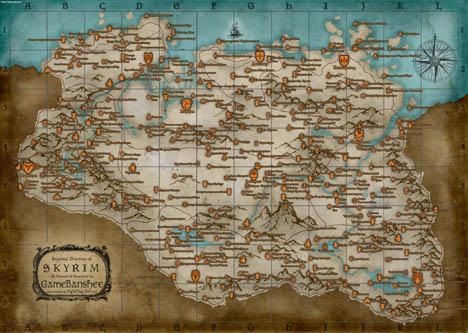 The Elder Scrolls V: Skyrim - полная русская карта мира